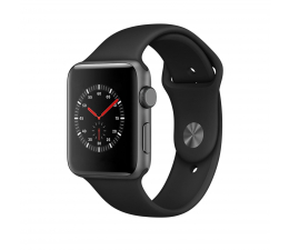 Apple Watch 3 42/SpaceGray Aluminium/Black Sport GPS (MQL12MP/A)