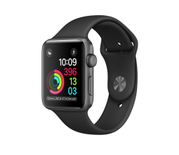 Apple Watch 38/Space Grey Aluminium/Black Sport Band (MP022MP/A)
