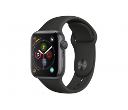 Apple Watch 4 40/SpaceGray Aluminium/Black Sport GPS  (MU662WB/A)