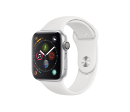 Apple Watch 4 44/Silver Aluminium/White Sport GPS  (MU6A2WB/A)