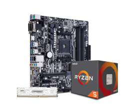 ASUS PRIME B350M-A + Ryzen 5 1600 + Crucial 8GB 2400MHz