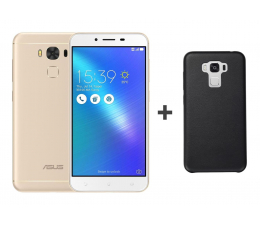 ASUS Zenfone 3 Max Laser ZC553KL złoty + Bumper Case  (ZC553KL-4G019WW + CASE_BLACK)