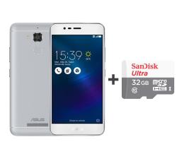 ASUS ZenFone 3 Max ZC520TL 3/32GB DS srebrny + 32GB (ZC520TL-4J092WW+SDSQUNS-032G-GN3MN)