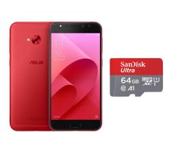 ASUS ZenFone 4 Selfie Pro ZD552KL DS czerwony + 64GB (ZD552KL-5C023WW+SDSQUAR-064G-GN6MA)
