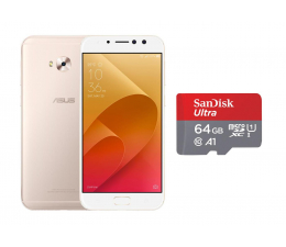 ASUS ZenFone 4 Selfie Pro ZD552KL DS złoty + 64GB (ZD552KL-5G022WW+SDSQUAR-064G-GN6MA)