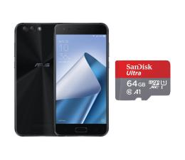 ASUS ZenFone 4 ZE554KL 4/64GB DS czarny + 64GB (ZE554KL-1A009WW+SDSQUAR-064G-GN6MA)