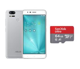 ASUS ZenFone Zoom S ZE553KL 4/64GB DS srebrny + 64GB (ZE553KL-3J057WW+SDSQUAR-064G-GN6MA)