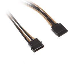 Bitfenix Molex/SATA adapter 45 cm złoty/czarny (BFA-MSC-MSA45AKK-CK)
