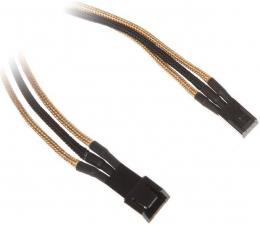 Bitfenix Przedłużacz 3-Pin 60cm złoty/czarny (BFA-MSC-3F60AKK-CK)