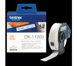 Brother Etykieta na segregatory 300 szt. (DK11203) (DK11203 - QL-800,QL-810W,QL-820NWB)