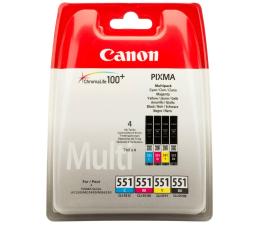 Canon CLI-551 zestaw C/M/Y/BK (6509B009) (iP7250/MG6450/MG6350/MX925/MG5550/MG7500)