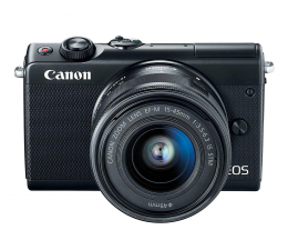 Canon EOS M100 EF-M 15-45mm IS STM czarny + Irista 50GB (2209C096)