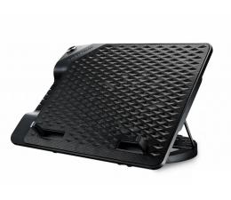 """Cooler Master NotePal Ergostand III (do 17"""", 4x USB, czarna) (R9-NBS-E32K-GP)"""