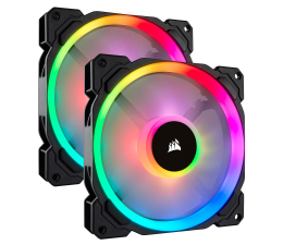 Corsair LL140 RGB LED Static Pressure 140 mm PWM (dwupak) (CO-9050074-WW)
