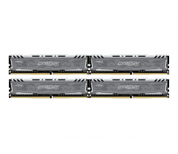 Crucial 32GB 2400MHz Ballistix Sport LT Gray CL16 (4x8GB) (BLS4C8G4D240FSB)