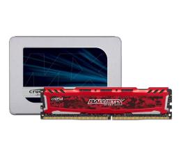 """Crucial 500GB 2,5"""" SATA SSD MX500 + 16GB 2400MHz Ballistix"""