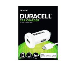 Duracell Ładowarka samochodowa 2.4 A + kabel Lightning MFI (DR5021W)