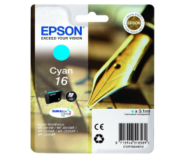 Epson T16 cyan 3.1ml (C13T16224010) (WorkForce WF-2010W/WF2510WF/WF2520NF/WF2530WF)