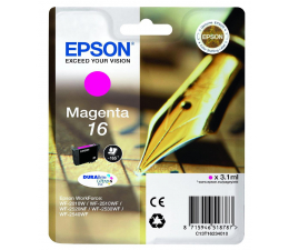 Epson T16 magenta 3.1ml (C13T16234010) (WorkForce WF-2010W/WF2510WF/WF2520NF/WF2530WF)