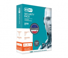 Eset Security Pack 3PC + 3smartfony (24m.) kontynuacja (ESP-K-2Y-6D )