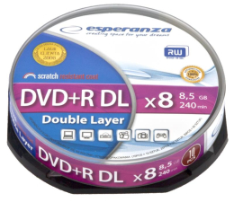 Esperanza 8.5GB 8x Double Layer CAKE 10szt.  (1245)