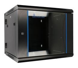 """ExtraLink Wisząca 19"""" 9U 600x600mm dwusekcyjna (czarna)  (EX.12943)"""
