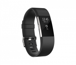 FitBit Charge 2 HR S Black-Silver  (IMFBC2SBK/816137020251)