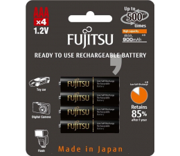 Fujitsu BLACK R03/AAA 900mAh (4 szt) blister  (HR-4UTHCEX-4B)