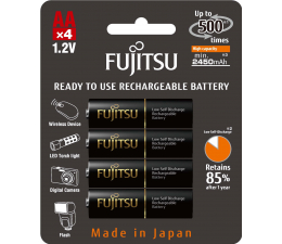 Fujitsu R6/AA czarne 2450mAh (4 szt.) blister (HR-3UTHCEX-4B)