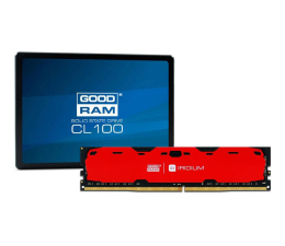GOODRAM 120GB SSD CL100 + 16GB 2400MHz Iridium Red