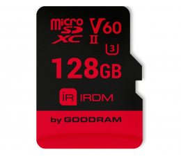 GOODRAM 128GB microSDXC UHS-II zapis110MB/s odczyt 280MB/s (IR-M6BA-1280R11)