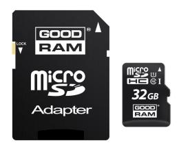 GOODRAM 32GB microSDHC zapis 10MB/s odczyt 60MB/s (SDU32GHCUHS1AGRR10 / M1AA-0320R11)