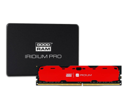 GOODRAM 480GB SSD Iridium PRO + 16GB 2400MHz Iridium Red