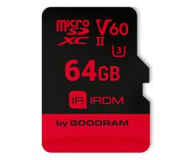 GOODRAM 64GB microSDXC UHS-II zapis 110MB/s odczyt 280MB/s (IR-M6BA-0640R11)