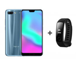Honor 10 LTE Dual SIM 128 GB szary + Smartband (COL-L29D Glacier Grey+55022081 Carbon Black )