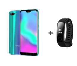 Honor 10 LTE Dual SIM 128 GB zielony + Smartband (COL-L29D Phantom Green+55022081 Carbon Black )