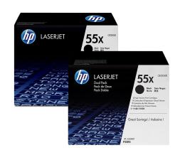 HP 55X black 12500 str. CE255XD dwupak (CE255XD)