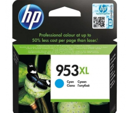 HP 953xl cyan 1600 str. (F6U16AE) (Officejet Pro 7740 / 8700 / 8210 / P27724dw)