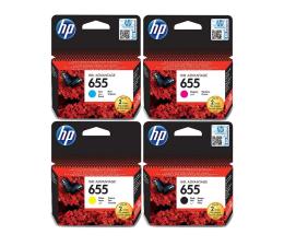 Eksploatacja - atrament HP Zestaw 4tuszów 655 CZ109AE+CZ110AE+CZ111AE+CZ112AE