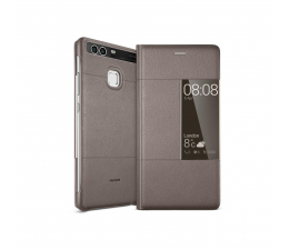Huawei Etui z Klapką Typu Smart do Huawei P9 brązowy (6901443105731)
