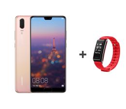 Huawei P20 Dual SIM 128GB Różowy + Smartband (Emily-L29C Pink+AW61 RED)