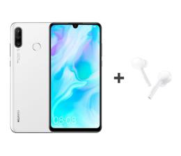 Huawei P30 Lite 128GB Biały + FreeBuds Lite białe  (Marie-L21A Pearl White + CM-H1C)