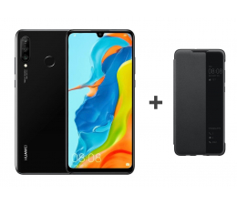 Huawei P30 Lite 128GB Czarny + View Cover do P30 Lite (Marie-L21A Black)