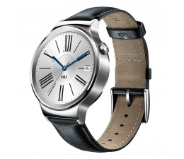 Huawei Watch Stainless Steel + Black Leather (6901443090198)