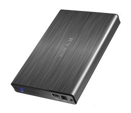 ICY BOX IB-231StU-G (SATA na USB) czarna aluminium + etui (IB-231StU-G)