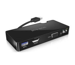 ICY BOX Multi Funkcyjny Adapter, USB 3.0, HDMI, Czarny (IB-DK401)