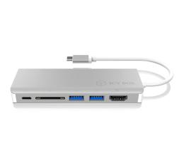 ICY BOX Stacja dokująca (USB-C, PD, HDMI, USB, RJ-45, SD) (IB-DK4034-CPD)