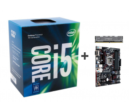 Intel i5-7600 + ASUS B250M-PLUS + Crucial 8GB 2400MHz (341950 + 341615 + 230147)