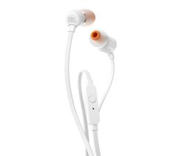 JBL T110 PureBass słuchawki dokanałowe białe  (T110WHT)