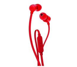JBL T110 PureBass słuchawki dokanałowe czerwone (T110RED)